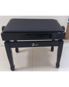 PIANO BENCH ADJUSTABLE BLACK (No Storage)