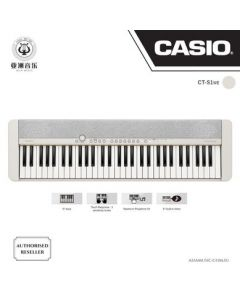 AUTHORIZED RESELLER - CASIOTONE - CT-S1 - WHITE COLOUR - FREE BLUETOOTH DONGLE (WU-BT10) WORTH $89! + $10 MUSIC VOUCHERS & FREE MUSIC TRIAL LESSON WORTH $40!