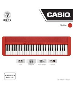 AUTHORIZED RESELLER - CASIOTONE - CT-S1 - RED COLOUR - FREE BLUETOOTH DONGLE (WU-BT10) WORTH $89! + $10 MUSIC VOUCHERS & FREE MUSIC TRIAL LESSON WORTH $40!