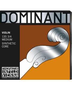 DOMINANT VIOLIN STRING 3/4 MEDIUM SET #135B
