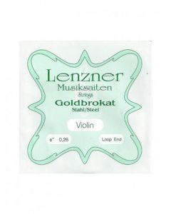 LENZNER GOLDBROKAT 'E' VIOLIN STRING (PC)