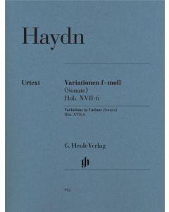 HAYDN VARIATIONS IN F MINOR SONATA HOB XVII:6