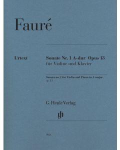 FAURE SONATA #1 FOR VIO/PF IN A MAJOR OP13