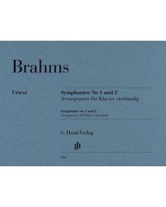 BRAHMS SYMPHONIES NO.1 AND NO.2  PIANO FOUR HANDS