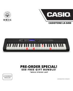 AUTHORIZED RESELLER - CASIOTONE - LK-S450 - KEY LIGHTING SYSTEM - FREE GIFT BUNDLE: $10 MUSIC VOUCHERS & FREE MUSIC TRIAL LESSON WORTH $40!