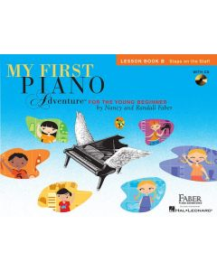 FABER MY 1ST PIANO ADV LESSON BK B W/AUDIO