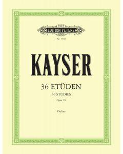 KAYSER OP20 36 ETUDEN VLN